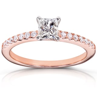 Annello 14k Gold 1/2ct TDW Diamond Engagement Ring (H-I, I1-I2)