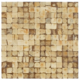 SomerTile 'Natural Coco' Concave 16.5x16.5-in Wall Tile (Pack of 6)