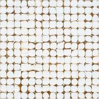 SomerTile 16.5x16.5-in White Coconut Concave Wall Tile (Pack of 6)