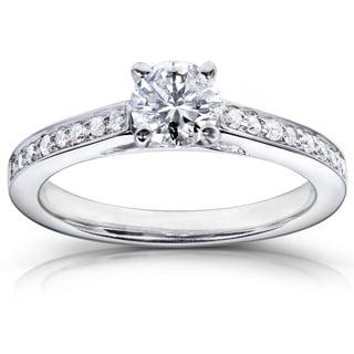 Annello 14k White Gold 5/8ct TDW Diamond Engagement Ring (H-I, I1-I2)