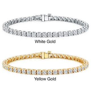 Auriya 14k Gold 3 2/5ct TDW Diamond 8-inch Tennis Bracelet (I-J, I2-I3)