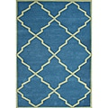 Alliyah Handmade Aqua Blue New Zealand Blend Wool Rug (5' x 8')