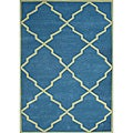 Alliyah Handmade Aqua New Zealand Blend Wool Rug (5' x 8')