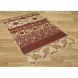 Alliyah Handmade New Zeeland Blend Beige Wool Rug(5' x 8')