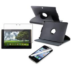 Leather Case/ Screen Protector/ Silver Stylus for Asus EEE Pad Tablet