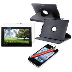 Leather Case/ Anti-glare LCD Protector/ Stylus for Asus EEE Pad Tablet