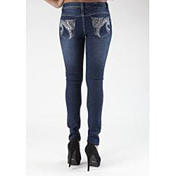 MDZ Junior's 'Pearl' Embroidered Skinny Jeans