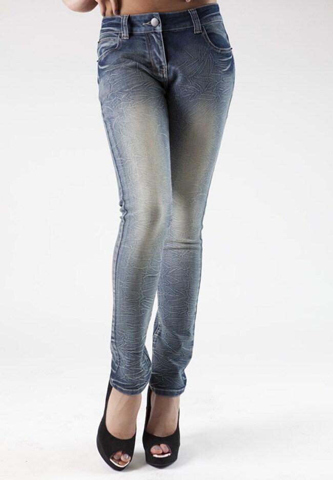 MDZ Juniors 'Robin Wave' Marble Wash Skinny Jeans