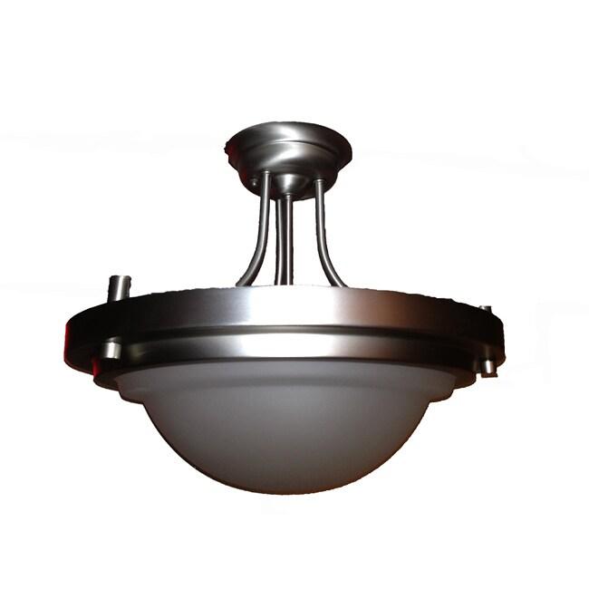 Epiphany Lighting Contemporary Brushed Nickel Semi Flush Light Fixture