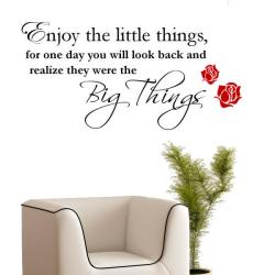 Vinyl 'Enjoy the Little Things...' Wall Decal