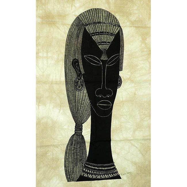 Heidi Lange 'Maasai Warrior' Screen Print (Kenya)