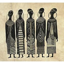 Heidi Lange 'Seven Maasai Girls' Screen Print (Kenya)