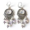 Silvertone Crystal 'Annabella' Chandelier Earrings