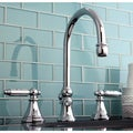 Three-Hole Chrome Widespread Bathroom Faucet