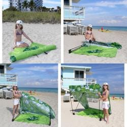 Infinita Tropical Green Island Shade Tent and Beach Shack