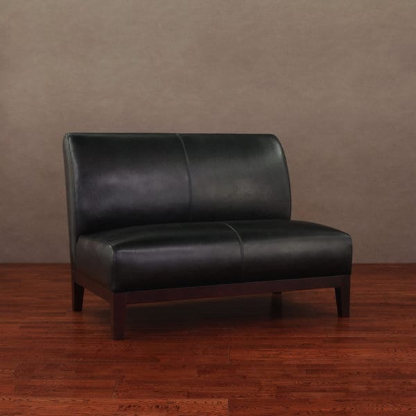 Cole Cleo Black Leather Loveseat Overstock Shopping Great Deals On Sofas Loveseats
