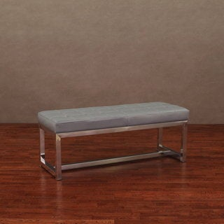 Liberty Charcoal Grey Leather Bench