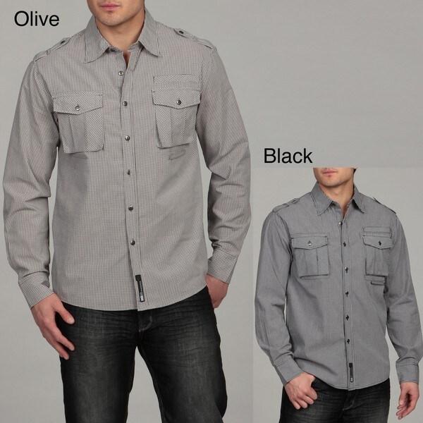 Southpole Men's Checkered Woven Shirt