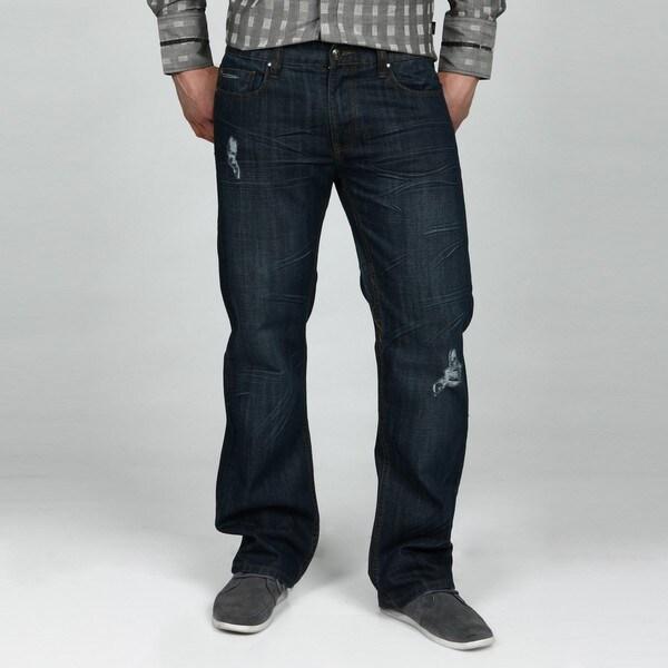 X-Ray Jeans Men's Dark Blue Straight Leg Jeans