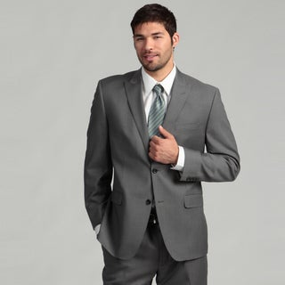 Joseph Abboud Men's 2-button Grey Wool Suit