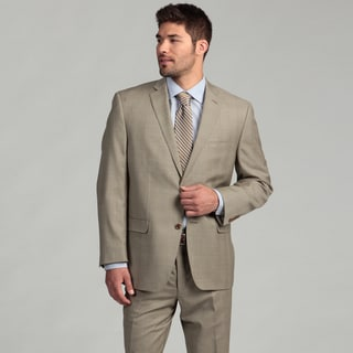 Joseph Abboud Men's Tan Glen Plaid 2-button Wool Suit