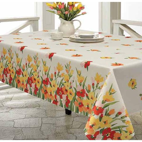 Primavera Printed 70-inch Round Tablecloth
