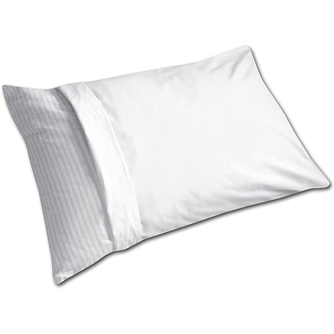 White Machine-washable Anti-allergy Pillow Protector (Set of 6)