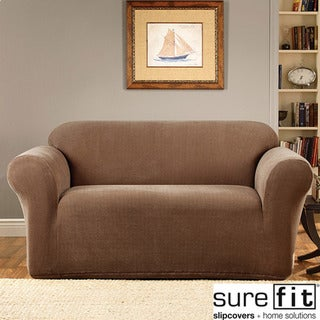 Sure Fit Stretch Micro 1-piece Loveseat Slipcover