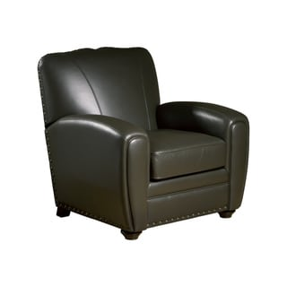 Cardiff Espresso Leather Press Back Club Chair