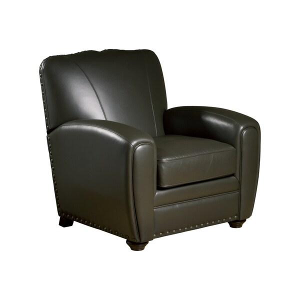 Cardiff Espresso Leather Press Back Club Chair