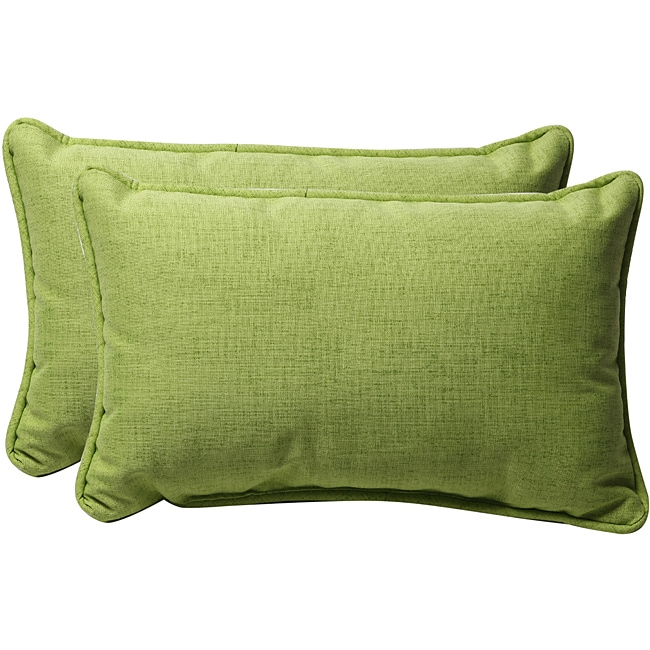 Pillow Perfect Decorative Solid Green Textured Outdoor