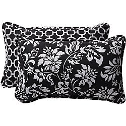 Pillow Perfect Decorative Black/ White Reversible Pillows (Set of 2)