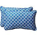 Pillow Perfect Decorative Blue/ White Geometric Outdoor Toss Pillows (Set of 2)