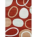 Alliyah Handmade New Zeeland Blend Wool Blend Poppy Red Area Rug (5' x 8')