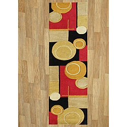Handmade Sabrina New Zealand Wool Rust Area Rug (2' x 8')