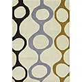 Handmade Sabrina Cream New Zealand Wool Blend Area Rug (5' x 8')