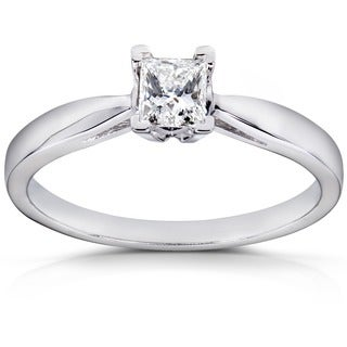 Annello 14k White Gold 1/4ct TDW Diamond Solitaire Ring (H-I, I1-I2)