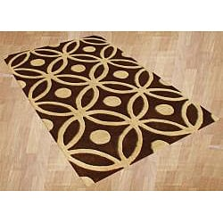Handmade Horizon New Zealand Wool Blend Chocolate Brown Area Rug (8' x 10')