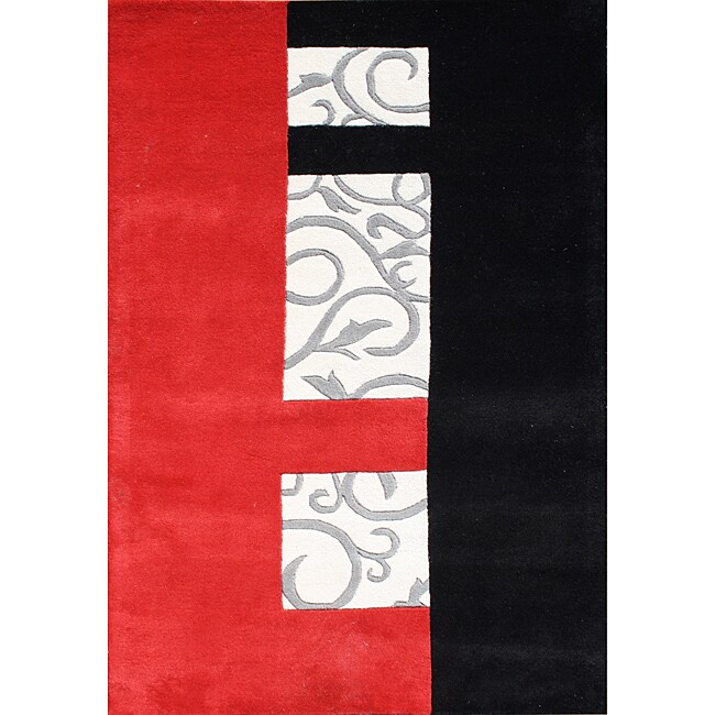 Handmade Metro Sabrina New Zealand Wool Blend Red Area Rug (8' x 10')