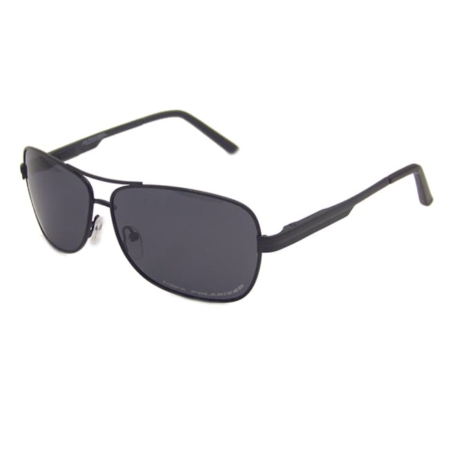 US Polo Association Men's Black 'Langley' Polarized Aviator Sunglasses