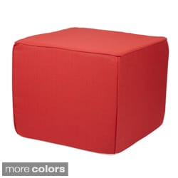 Brooklyn Sunbrella Outdoor 22-inch Square Ottoman-Textured Bright Colors