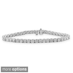 Auriya 14k Gold 9ct TDW Diamond 8-inch Tennis Bracelet (J-K, I2)