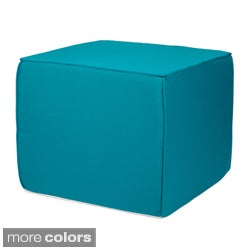 Brooklyn Sunbrella Outdoor 22-inch Square Ottoman-Bright Colors