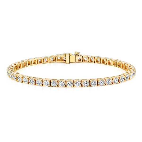 Auriya 14k Gold 1 3/4ct TDW Diamond Tennis Bracelet (I-J, I2)