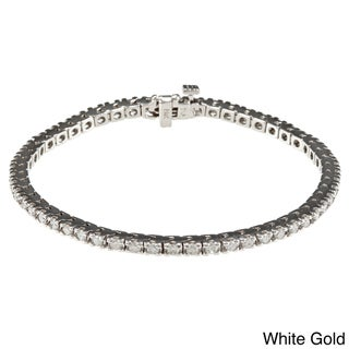 Auriya 14k Gold 1 3/4ct TDW Diamond Tennis Bracelet (I-J, I2)