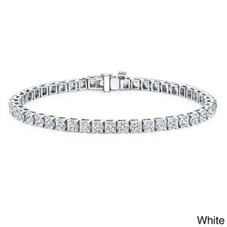 Auriya 14k Gold 10ct TDW Round Diamond 9-inch Tennis Bracelet