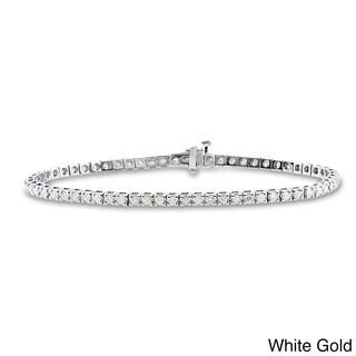 Auriya 14k Gold 2 1/3ct TDW Diamond 8-inch Tennis Bracelet (I-J, I2-I3)