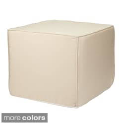 Brooklyn 22-Inch Square Indoor/ Outdoor Ottoman-Traditional Colors