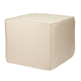 Brooklyn 22-Inch Square Outdoor Ottoman-Traditional Colors