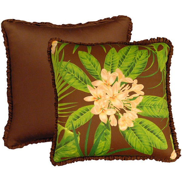 Rose Tree Rain Forest Square Pillows (set of 2)